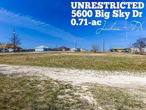 Houston Home at 5600 Big Sky Drive Joshua , TX , 76058-4384 For Sale