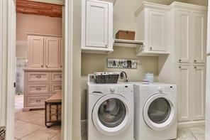 Great sized laundry room with access to the Master closet.