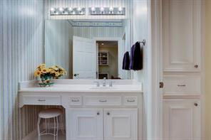 Upstairs Hollywood bath with separate vanity area