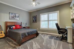 Fourth spacious upstairs secondary bedroom with an en-suite bathroom