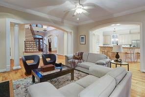 Another view of the family room, notice how it opens into the kitchen and the rest of the home--such a great flow!