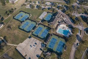 This is the Sports Club with its seven lighted tennis courts, lap lane pool, workout facility and day spa.