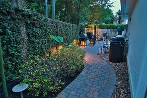 Romantic, cozy and private walkway.