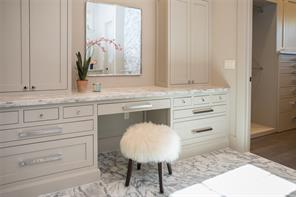 Master Bath: Large vanity area with electrical outlets in cabinets