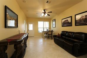 The downstairs living area can be used as flex space...playroom, gameroom, media...the options are endless.