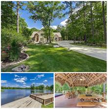 Surrounded by a lush forest of mature hardwoods, this stone & brick beauty feels as if it were set within a glade. Boulders have been artfully placed amongst the blooming & green landscape to further enhance this beautiful 1.27 Acres of waterfront property.