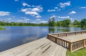 PRIVATE 30 ACRE LAKE View is at the neighborhood access pier.