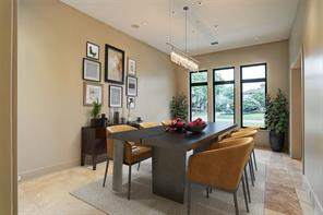 Virtually staged Dining Room.