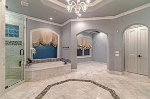 In the master bath is a small room where you can set up a massage table, workout space, or whatever you might like to use it for....yoga?
