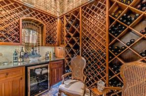 Take a peek in the wine cellar, and you'll see the groin ceiling and old Chicago brick.