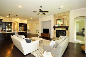 Open concept with family room & kitchen