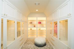 Her Event Closet: handbag/seasonal closet handbag storage, glass front cabinets