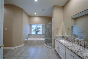 Double sinks and vanity area.