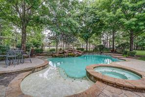 Large pool with lots of decking space allows for plenty of room for family and friends.