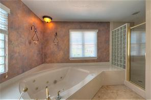 Huge jetted tub and separate shower.