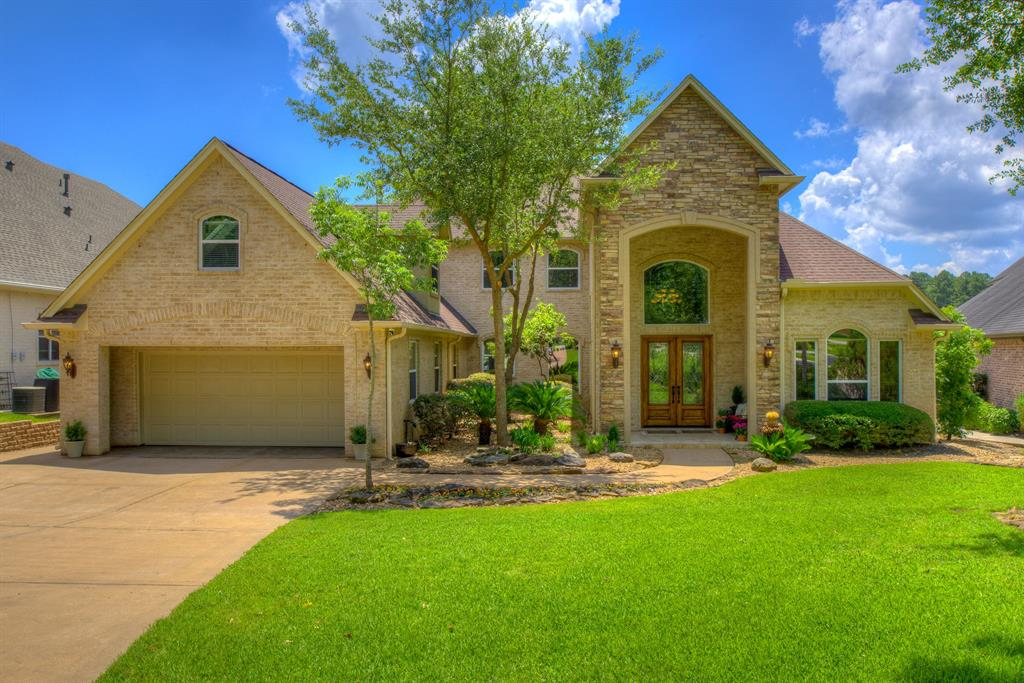 Remarkable direct Eastern Lake view, ideally located on Lake Conroe! 102 FEET OF WATER FRONTAGE! NO MUD TAXES!  Boat slip/lift & powered watercraft slips. Enjoy sunrises & sunsets relaxing out on the 23x14 covered patio or sit poolside taking in all this lovely backyard has to offer. The Pool features a waterfall/wet-wall, spa & automated controls. Lake fed irrigation system with street water cutover.  Plenty of space with 5 Bedrooms & 5 1/2 baths with each Bedroom having its own bathroom & walk-in closet. 2 Game Rooms (one measuring 45x13) -- you can imagine all the possibilities! Both Gamerooms include a sink, counters, cabinets and provision for refrigeration. The 26x18 living room has large energy efficient windows and open concept to the kitchen, bringing the outdoors inside! 3 independent HVAC systems, whole house dehumidifier and bug spray system.  This spectacular waterfront home will certainly live up to your expectations of luxurious Lake Conroe living.