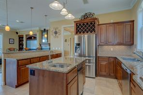 Lots of counter space & cabinets in this updated kitchen!