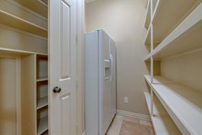 The generous pantry includes room for a 2nd refrigerator and all your food storage needs