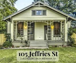 Houston Home at 105 Jeffries Street Brenham , TX , 77833-2607 For Sale