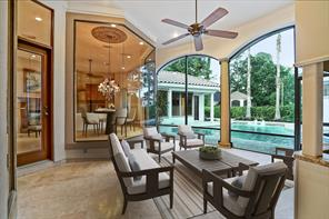 The outdoor kitchen provides quick access to the main living area and the pool creating the ideal space for entertaining.