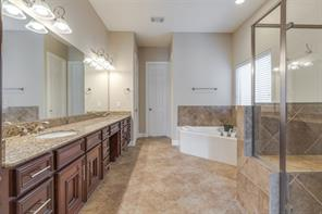 The master bath is an elegant spa-like retreat. The owners have given utmost attention to maintaining the details of this home!