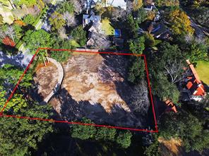 43,700 square foot lot has been cleared and ready for your custom home. Seller has architectural plans designed by Robert Dame that can be conveyed with the property. The plans have already been permitted by the city. Red Line Borders are approximate.