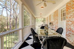 Second floor balcony with French door access from the sunroom.
