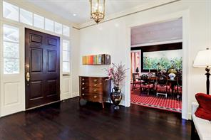 As you enter the front door, to your left is the formal dining room.
