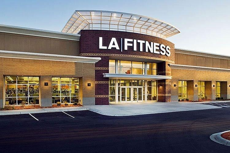 Walk to the newly opened LA Fitness
