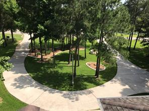 View of the front yard and circle drive from above.