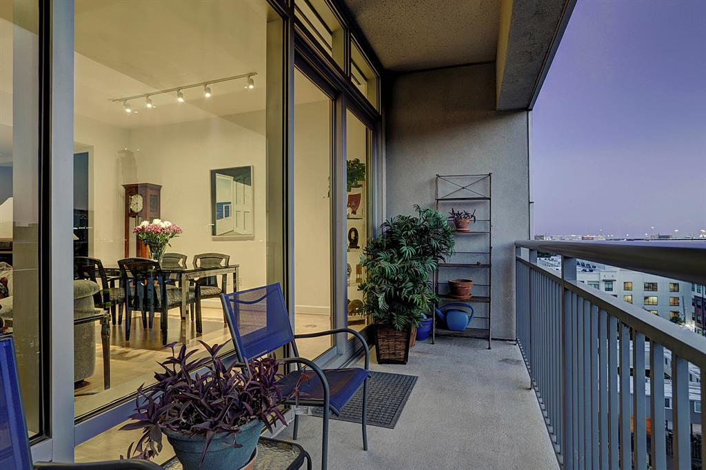 Large patio, with enough space for a variety of outdoor furniture and greenery!