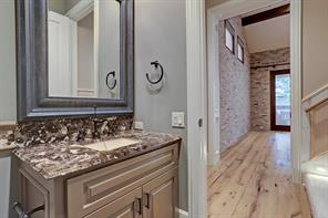 This view of the GOURMET KITCHEN shows the double Viking convection ovens and the French Door Jenn Air refrigerator & freezer.  Notice the plethora of cabinets and drawers!