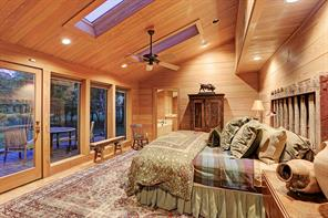 The third Guest Bedroom (18 X 13) offers the same details as the second Guest Bedroom but adding a door to the back patio, skylights and larger windows with shades to view the backyard vistas.