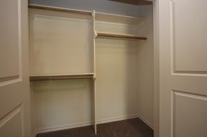 Closet in one of the bedrooms.
