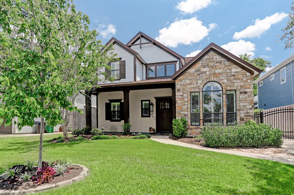 ** MULTIPLE OFFER SITUATION. SELLER REQUESTING HIGHEST AND BEST BY 5 PM ON SAT JUNE 9 2018. ** Custom-built home well located in desirable section of Garden Oaks! Beautiful hill-country inspired stone and stucco elevation.Open living/dining/kitchen floorplan with hardwood floors.Fabulous island kitchen with gas cooktop,stainless appliances,and plenty of prep space.Butler pantry with wine refrigerator.Study/library.Master suite down! Tastefully appointed master suite with dual vanity,walk-in shower and jacuzzi tub.Pool and hot tub add to the enjoyment of Houston's summers!Driveway gate.Just a few minutes to restaurants! Dont miss this one of a kind home in sought-after Garden Oaks!