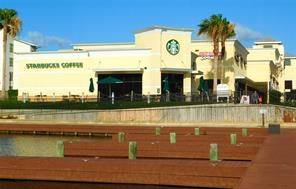 Take a stroll to the Starbucks in the morning and enjoy the water views