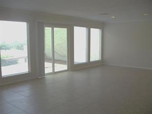 You also have a view of the lake from this spacious living/dining room.
