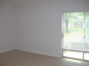 Master bedroom is downstairs.  Private & serene.