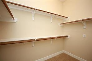 Master closets, lots of storage space.