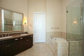 Master bathroom, similar to first floor.