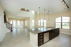 Open grand kitchen space is perfect for entertaining. The flow from the living, kitchen is effortless.