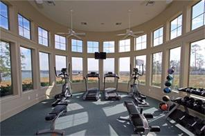 Clubhouse: State-of-the-art athletic facility with locker rooms, TV and views of the lake