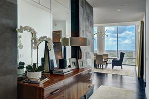 This 19th floor residence is resplendent in a multitude of views of the gorgeous city of Houston.