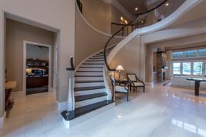 Beautiful oak stairs and stainless steel balustrades.