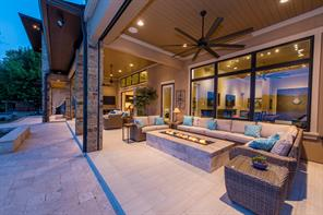Covered fire pit area allows use and enjoyment even during inclement weather.