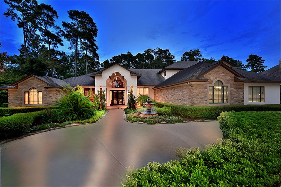 Mediterranean homes for sale in the woodlands tx mason for Koi pond the woodlands tx
