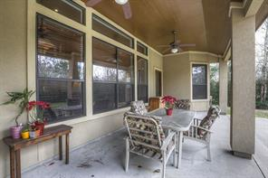 Spacious  back porch shown here.