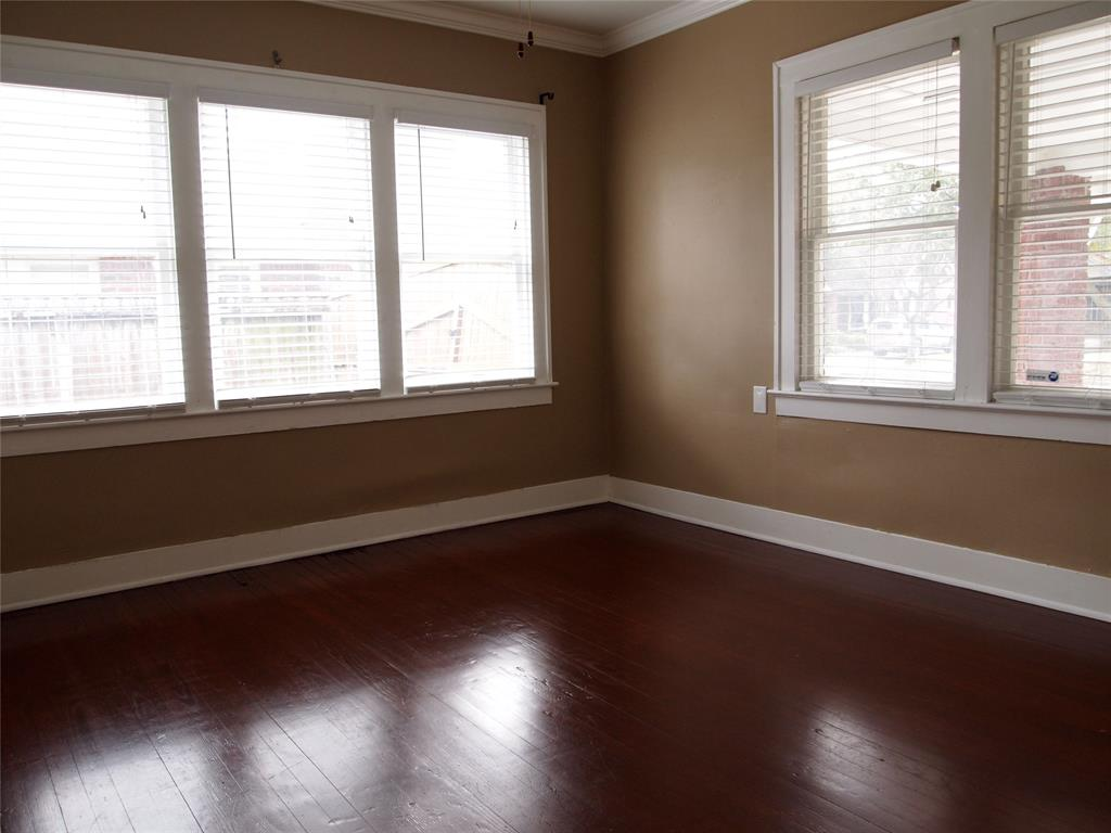 Bedroom # 1 with hardwood floors.