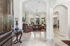 Wow! What an entry way.  The 12 foot ceiling provide a grand elegance.