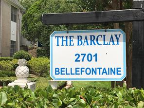 Houston Home at 2701 Bellefontaine Street B8 Houston , TX , 77025-1667 For Sale
